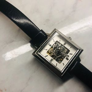 SALE Kenneth Cole skeleton dial square face watch